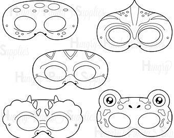 Máscaras para colorear imprimibles por HappilyAfterDesigns en Etsy