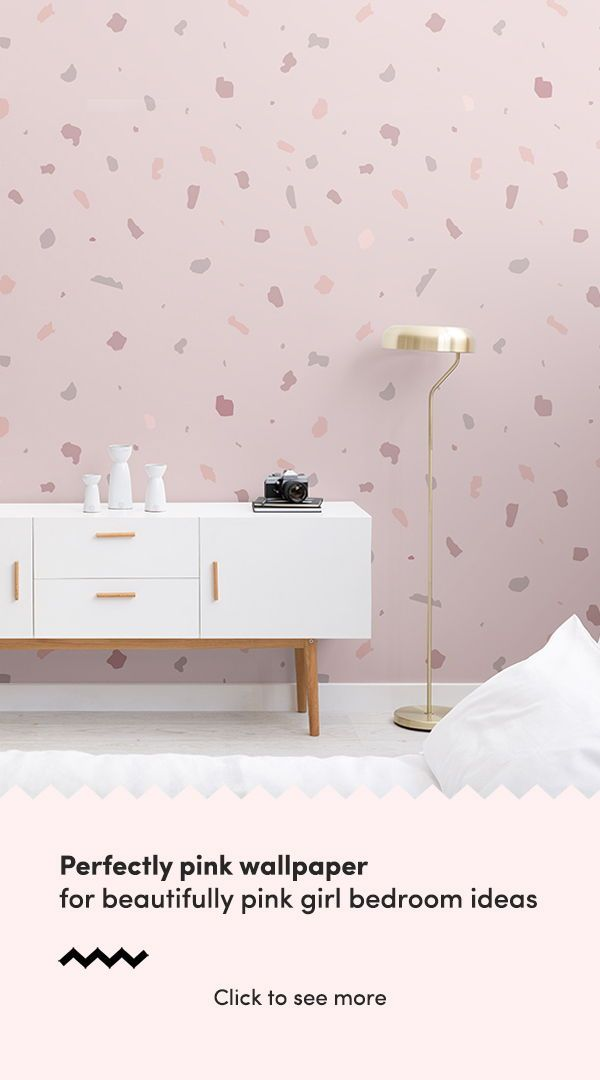 Dusky Pink Terrazzo Wallpaper Mural | MuralsWallpaper | Pink Bedroom Walls, Girls Bedroom Wallpaper, Pink Bedroom For Girls