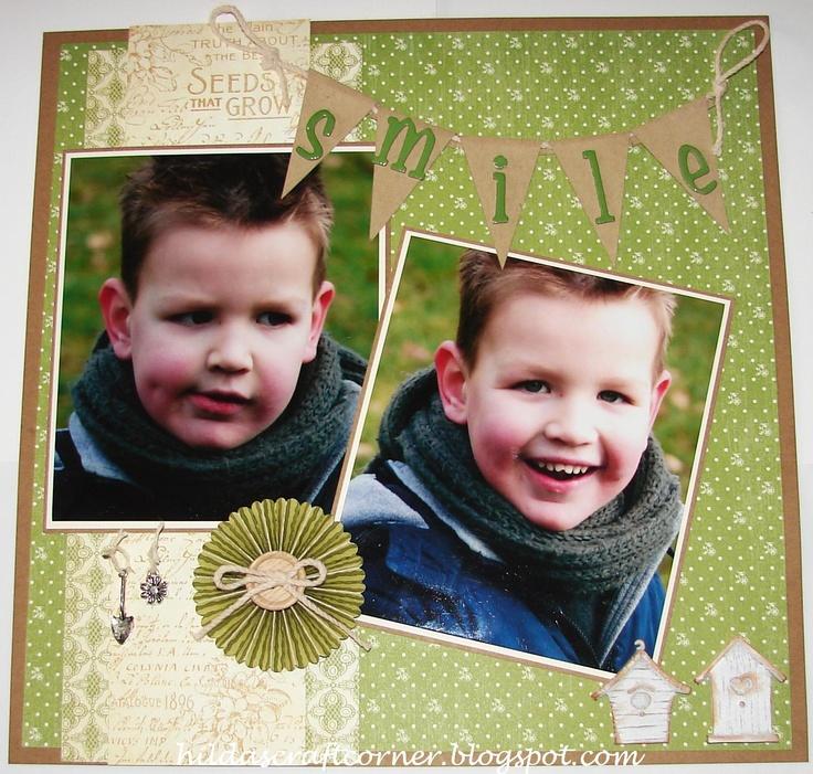 """""""Smile"""" Papier van Graphic 45 Secret Garden"""