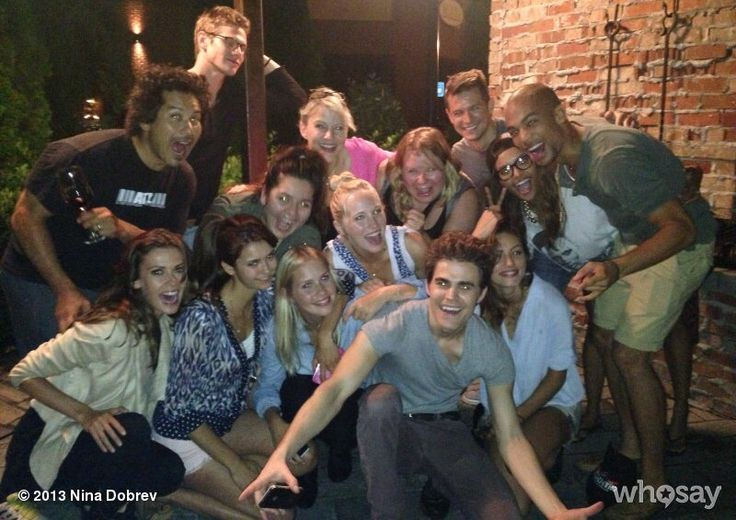 nina dobrev, paul wesley, phoebe tonkin, katerina graham, kendrick sampson, julie plec, olga fonda, candice king, brian young and zach roerig