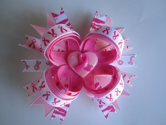 3 Breast Cancer Awareness Hair Bow by LLHairLove on Etsy, $5.00Hairbows Ideas