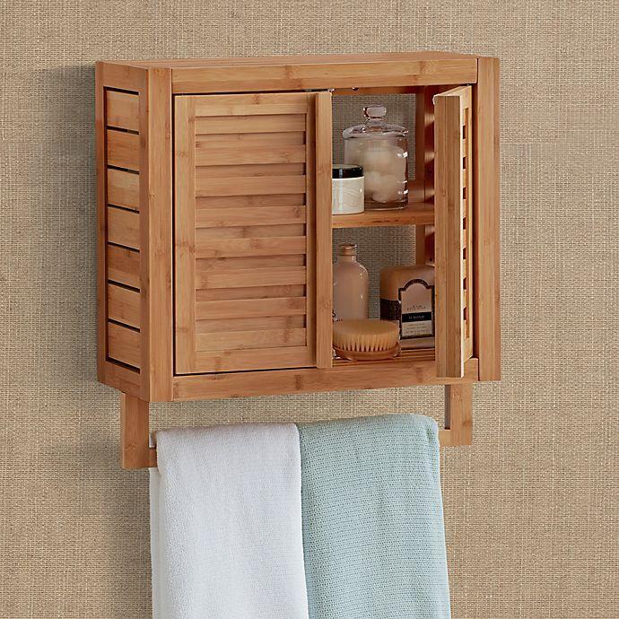 Haven No Tools Bamboo Wall Cabinet Bed Bath Beyond Bamboo Wall Wall Cabinet Cleaning Walls