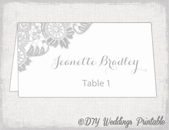 Place Cards Templates 6 Per Sheet New Printable Place Cards Template Silver Gr Place Card Template Printable Place Cards Templates Wedding Place Card Templates