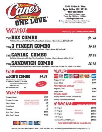 Menu - Raising Cane's | Things I love | Pinterest Raising Canes Gif Images
