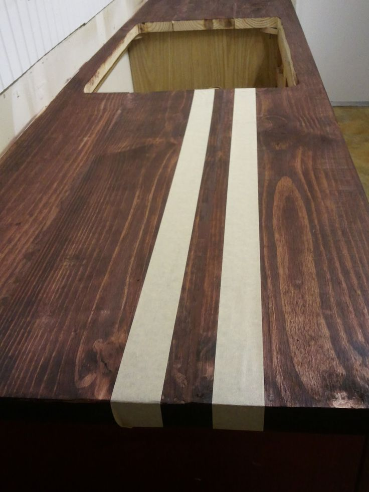 Best Wood For Butcher Block Counters: Breakfast For Dinner: Faux Butcher Block Conter-Top