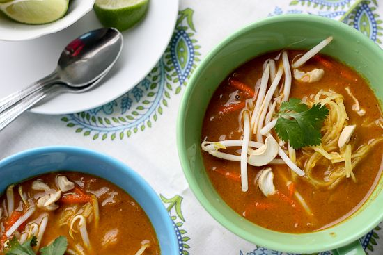 Paleo Thai Coconut Curry Soup (Chicken Khao Soi) - www.PerrysPlate.com