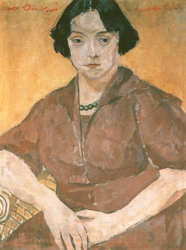 Xawery Dunikowski (Poland 1875-1964), Portrait of a Woman, oil/canvas. Sold at auction 1992.