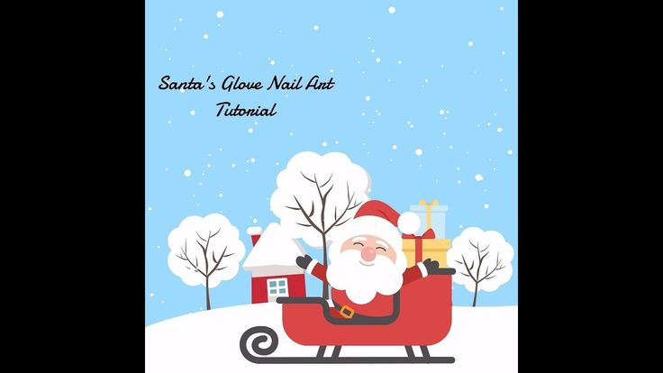 Santa's Glove Nail Art Tutorial