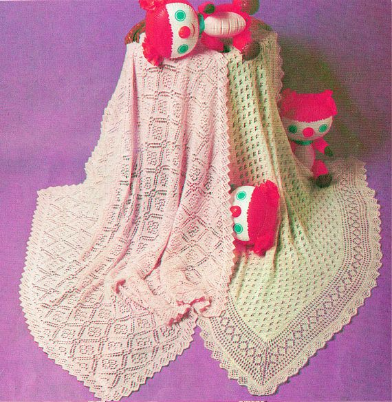 PDF Vintage Pretty Baby Knitting Pattern Christening Shawl