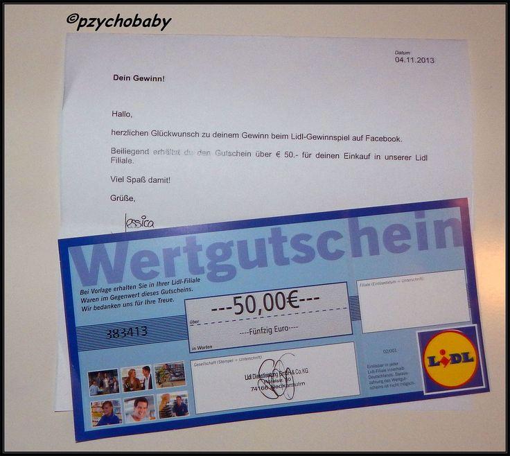 50€ Gutschein für Lidl  http://www.pzychobaby.de/2013/11/3-gutscheine-und-eine-probe.html