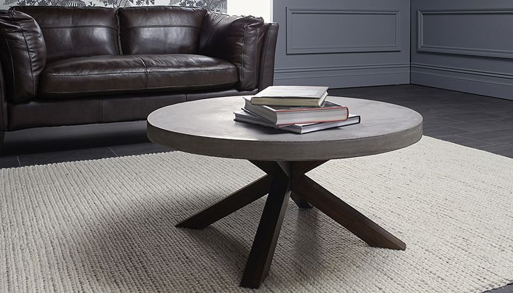 Levanzo coffee table with concrete table top with Acacia wood frame