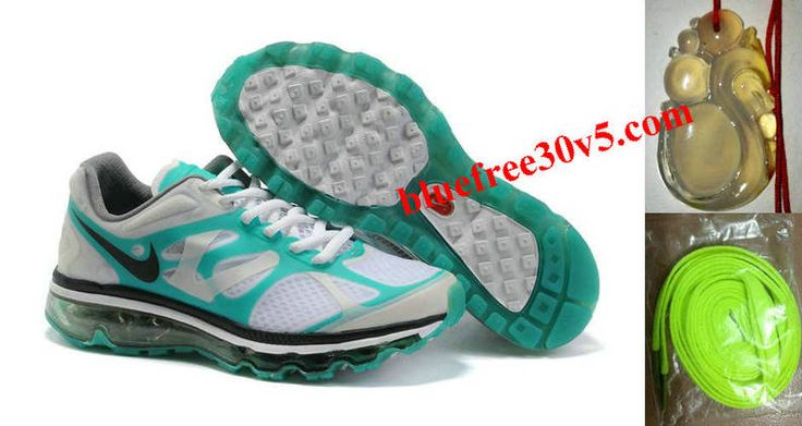 Womens Nike Air Max 2012 White Grey Jade Shoes