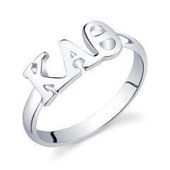 Sterling Silver Kappa Alpha Theta Letter Ring by GreekGirlShop, $30.00