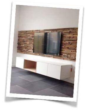 Sander heeft samen met 100%Kast dit zwevend tv-meubel ontworpen! Het resultaat is prachtig!