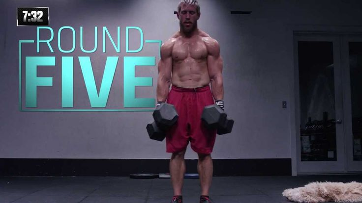For time: 100 Double-unders Then, Five rounds of: 75 pound Dumbbell deadlift, 10 reps 75 pound Dumbbell front squat, 10 reps 10 Handstand push-ups Then, 100 Double-unders
