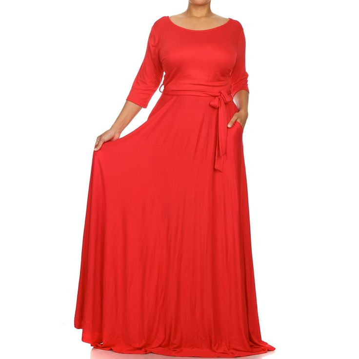 plus size stretch jersey sweep skirt maxi