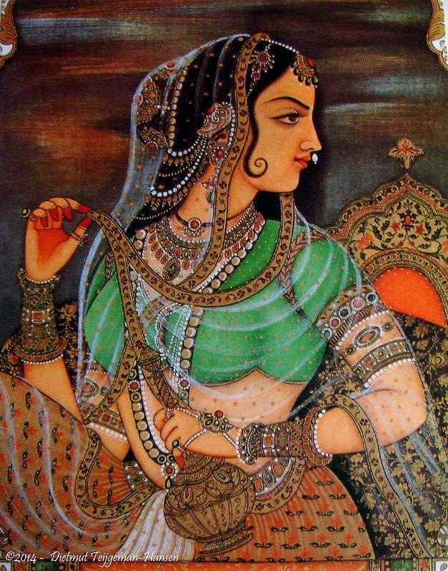 gardenofthefareast:  Indiase miniatuur schilderijen / Indian miniature paintings (serie of 6 fotos / series of 6 images) by dietmut on Flickr