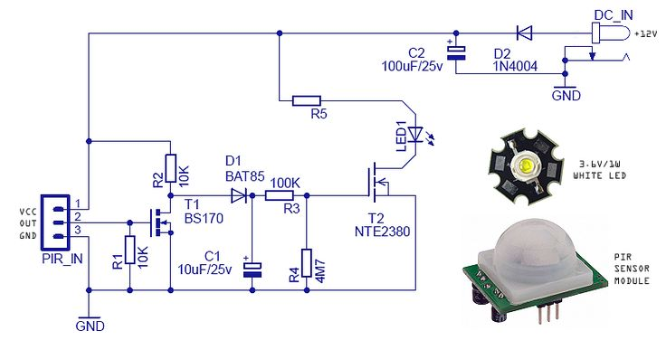 motion light circuit