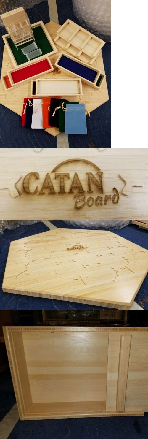 Game Pieces Parts 7317: Settlers Of Catan Bamboo Game Board, Bamboo Storage Box And Bamboo Accessories -> BUY IT NOW ONLY: $500 on eBay!