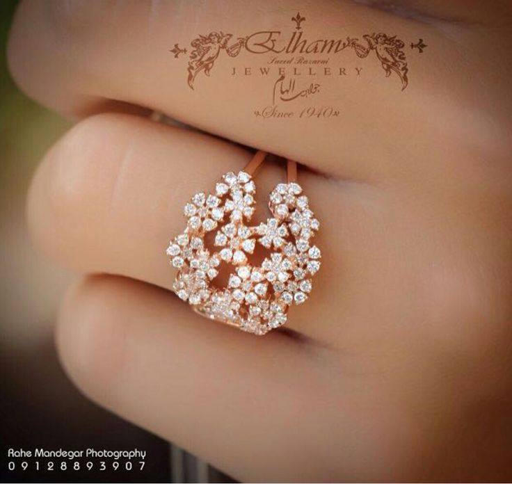 Beautiful diamond flowers ring
