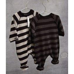 Baby one-piece romper in stripes by album di famiglia - buddy