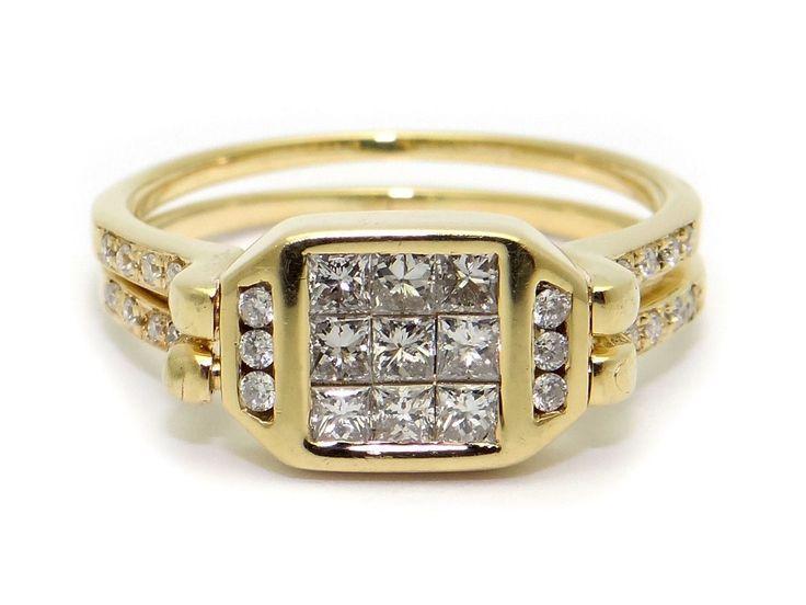 Reversible diamond ring https://www.rubylane.com/shop/odditiesandantiquites