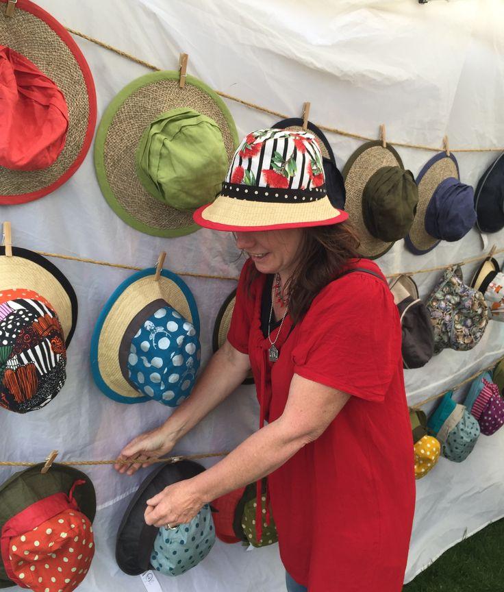 Grey Lynn Festival  travelhat beachhat sunhat made in newzealand made to order XL hats bigheads