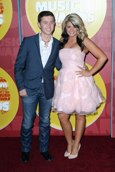Scotty McCreery and Lauren Alaina at CMT Music Awards - Click image to find more Celebrities Pinterest pins