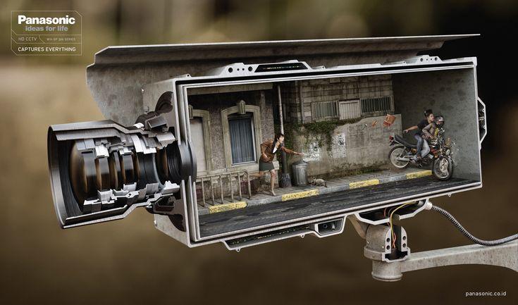 Ad for Panasonic's HD CCTV