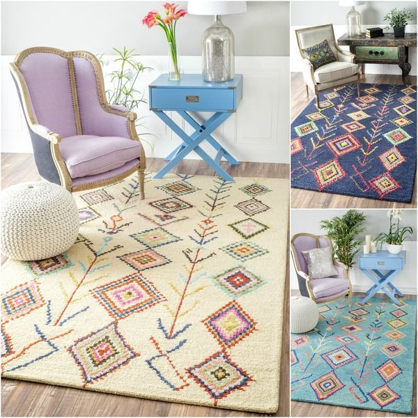 Hand Tufted Wool Moroccan Triangle Rug 5 X 8 By I Love Living