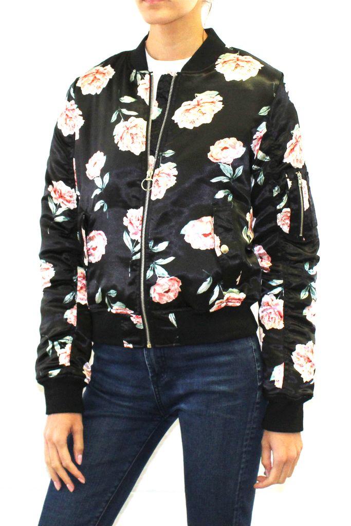 Floral Print Bomber Jacket  #bomberjacket #floralprint #floral #print #womensjacket