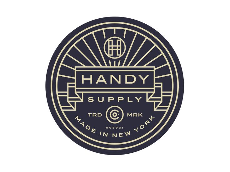 I will NEVER get tired of these old school seals  Handy Supply Co. Badge /// By Steve Wolf