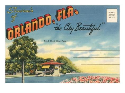 Image result for orlando vintage greeting cards 1960