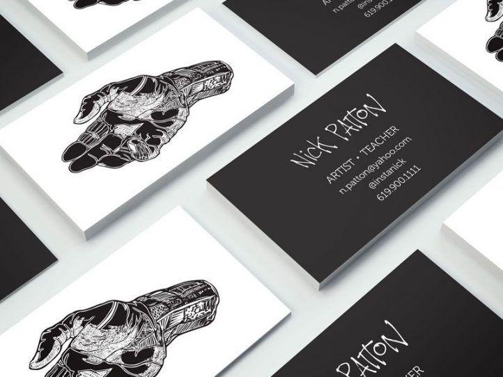 Artist business cards dengan gambar