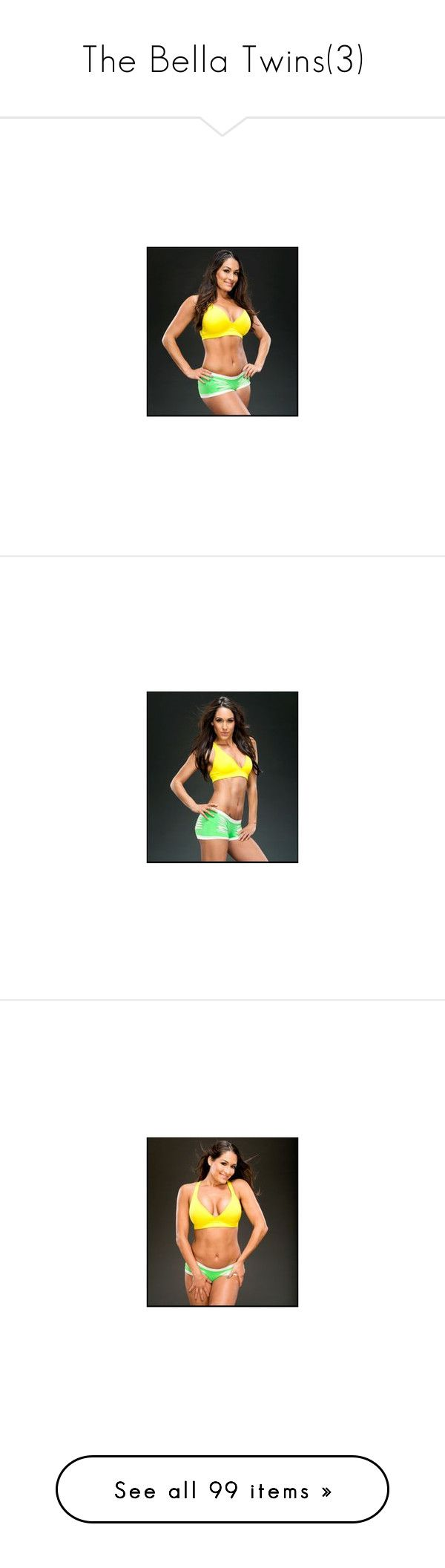 """""""The Bella Twins(3)"""" by jamiehemmings19 ❤ liked on Polyvore featuring people, the bella twins, wwe, brie bella, wrestling, divas, home, home decor, pictures and tops"""