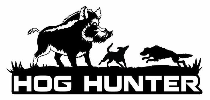 Hog Hunting Decalhog Hunterhog Doggingboar Hunterferal Hogbay - Sporting dog decals