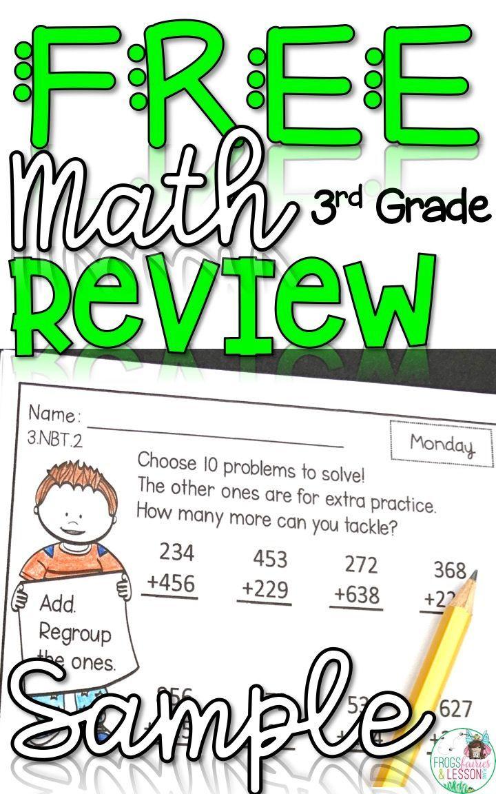 Third Grade Math Homework Free Sample Third Grade Math Homework Third Grade Math Math Homework