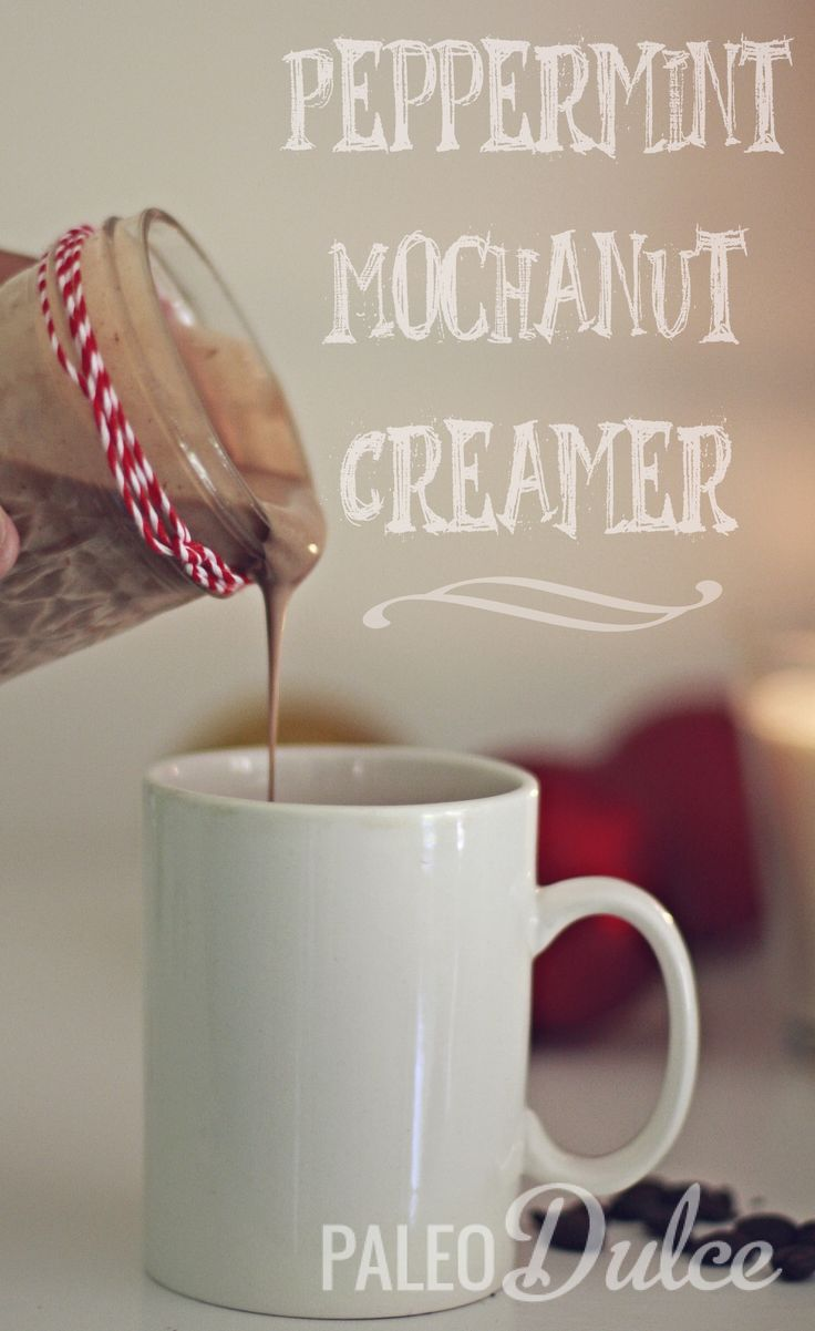 Peppermint Mocha-Nut Creamer (for your coffee) #PaleoDulce! I WILL be making this mmmmmm