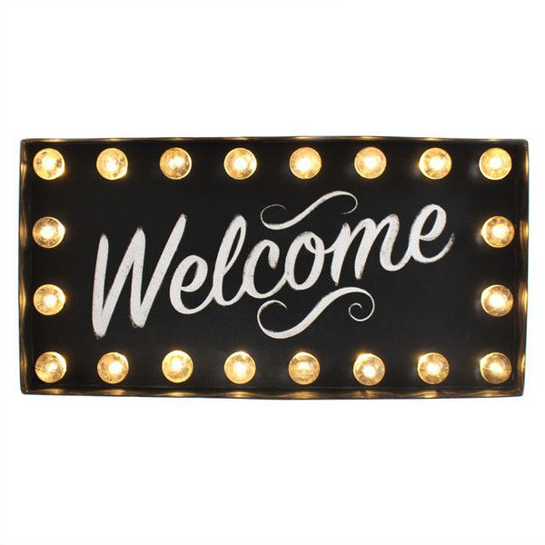 Welcome light up sign 40cm Hollywood sign, welcome home, wall sign,... (440 SEK) ❤ liked on Polyvore featuring home, home decor, wall art, wall mounted signs, wall signs, mounted wall art, home wall decor and welcome home signs