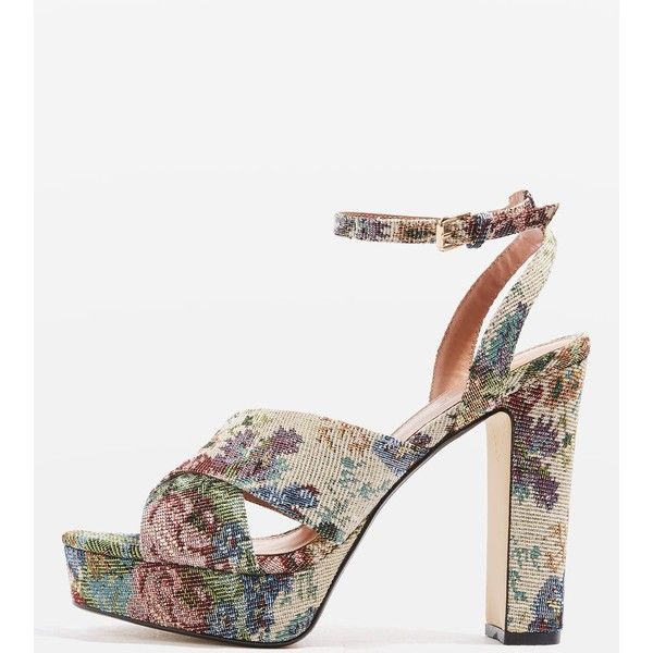 Topshop Madrid Cross-Strap Platform Shoes (86 QAR) ❤ liked on Polyvore featuring shoes, sandals, multi, cross strap shoes, topshop sandals, platform sandals, cross strap sandals and platform shoes