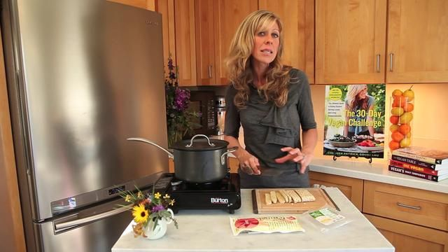 Tempeh Bacon Cooking Demonstration by Colleen Patrick-Goudreau. Tempeh is unfamiliar to many, but not for long. In this informative demonstration, Colleen Patrick-Goudreau talks about what tempeh is, reveals her secret for preparing it, and shows us how to make a delicious tempeh bacon that is full of familiar saltiness, smokiness, and flavor but devoid of saturated fat, dietary cholesterol, and animal suffering. It's a win-win!
