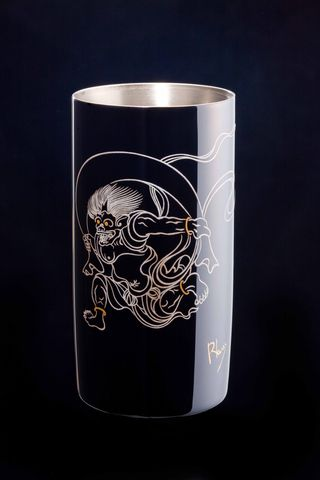 Titanium Japanese Lacquer Tumbler by Rhus  (God of Thunder) featured on Jzool.com