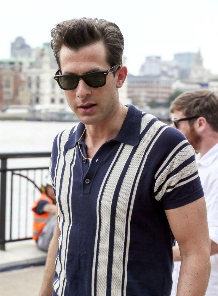 mark ronson retro style polo shirt for men