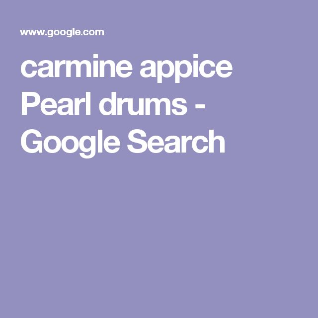carmine appice Pearl drums - Google Search