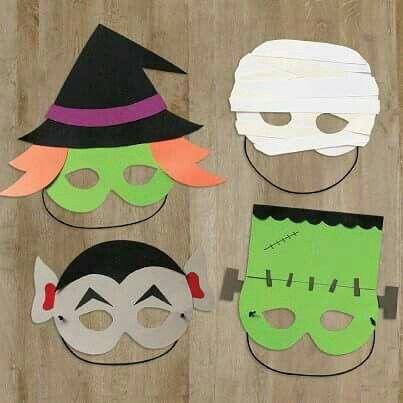 Halloween paper masks