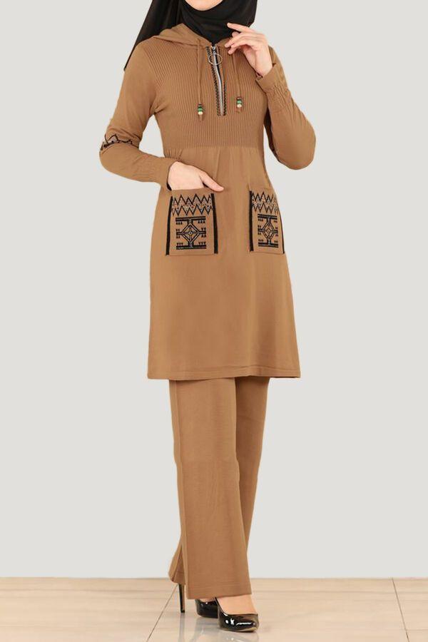 طقم بيج تريكو تسوق أون لاين حجاب مودانيسا أزياء محجبات ملابس محجبات فساتين جلباب عباية ملابس فستان Muslim Women Clothing Islamic Clothing Abaya Dress