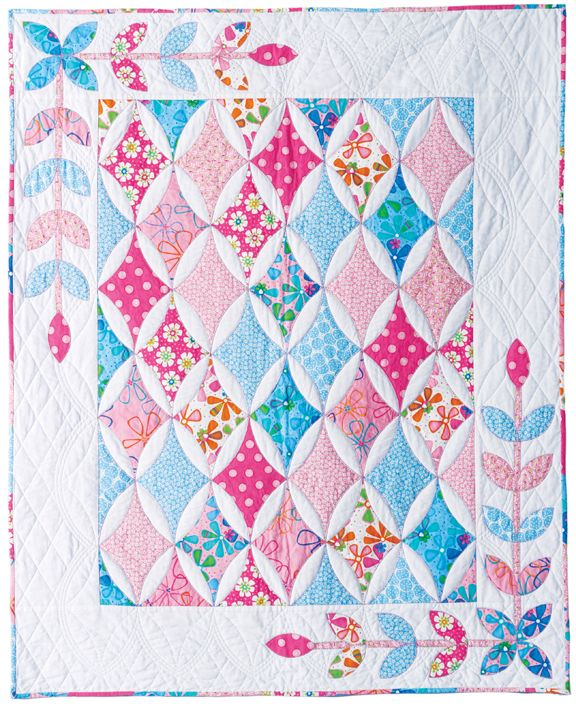 Hope s Diamond Quilt pattern Patchwork Pinterest Cathedral windows, Girls and Patterns