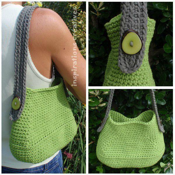 Tuto Sac au Crochet ༺✿ƬⱤღ  http://www.pinterest.com/teretegui/✿༻