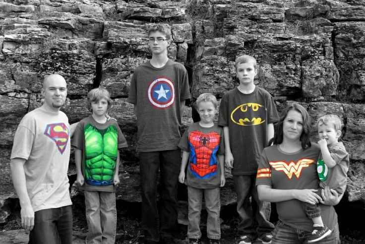 I had a photographer friend take our family pictures bc my kids don't usually cooperate for me...we went with a superhero them. Figured I should take advantage if having 5 superhero loving boys!