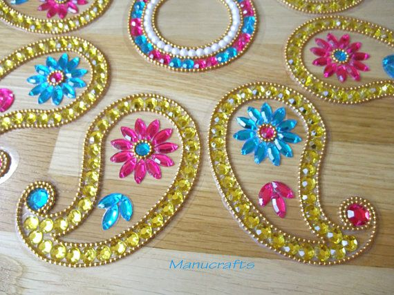 Reusable Rangoli/ Diwali Decoration/ Christmas Table Decoration/ Wedding Table Decoration/ Indian wedding/ Koyari shaped Rangoli –9 Piece